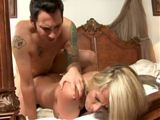Hot Busty Blonde Cougar Banging Young Stud