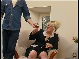 Blonde Mature Fucked By Young Cock