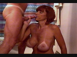 Busty Milf Twyla sucks the cum out!