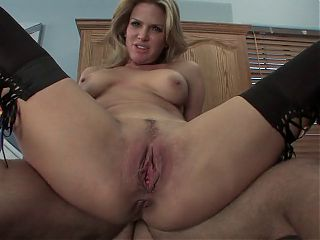 Sexy MILF fucks in the kitchen
